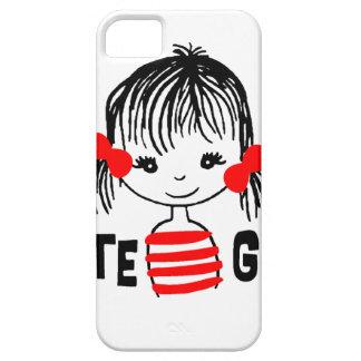 Capa Barely There Para iPhone 5 a menina bonito, refrigera o design