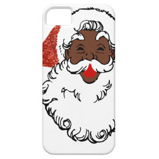 Capa Barely There Para iPhone 5 africano Papai Noel do sequin