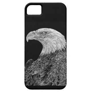 Capa Barely There Para iPhone 5 Águia americana Scratchboard