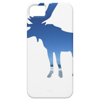 Capa Barely There Para iPhone 5 alces azuis