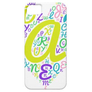 Capa Barely There Para iPhone 5 alfabeto do amor