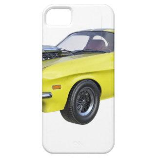 Capa Barely There Para iPhone 5 Amarelo do carro de 1970 músculos com listra preta