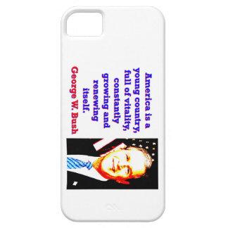 Capa Barely There Para iPhone 5 América é um país novo - G W Bush