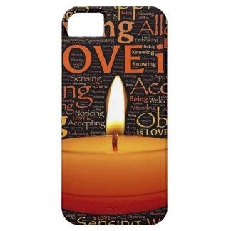 Capa Barely There Para iPhone 5 Amor, citações da vela