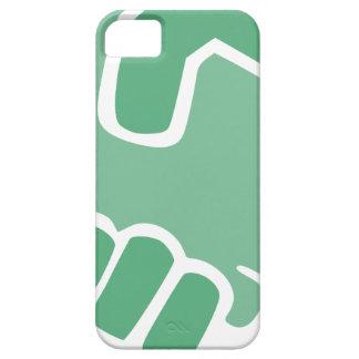 Capa Barely There Para iPhone 5 Aperto de mão verde