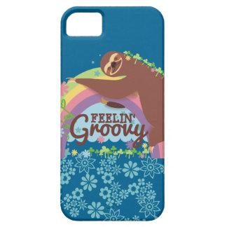 Capa Barely There Para iPhone 5 Arco-íris retro do hippie da preguiça engraçada