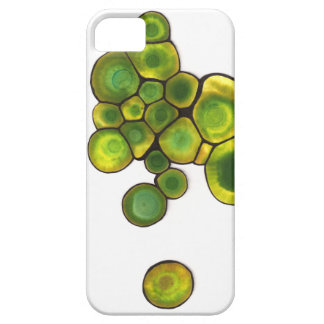 Capa Barely There Para iPhone 5 Arte abstracta verde das pilhas