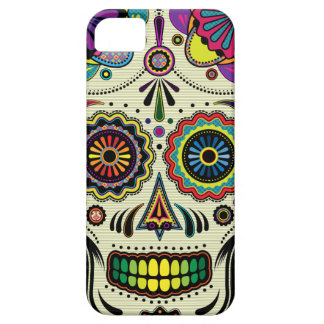 Capa Barely There Para iPhone 5 Arte do asteca do crânio do açúcar