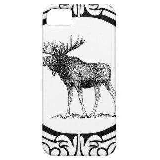 Capa Barely There Para iPhone 5 arte grande dos alces do touro