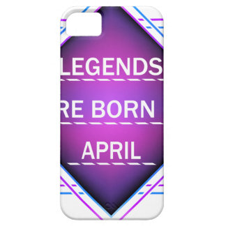 Capa Barely There Para iPhone 5 As legendas são nascidas em abril