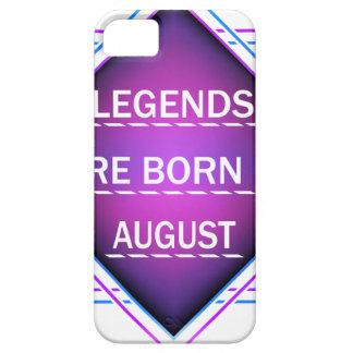 Capa Barely There Para iPhone 5 As legendas são nascidas em agosto