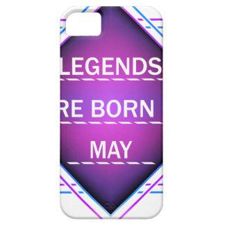 Capa Barely There Para iPhone 5 As legendas são nascidas em maio