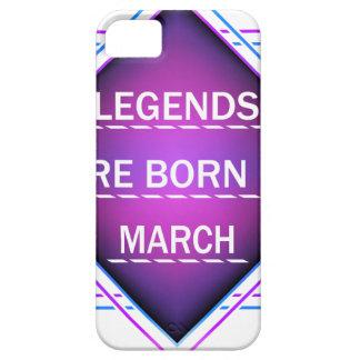 Capa Barely There Para iPhone 5 As legendas são nascidas em março