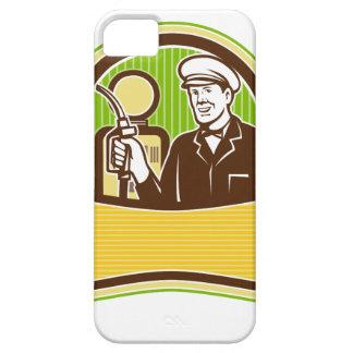Capa Barely There Para iPhone 5 Assistente do gás do vintage retro