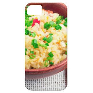 Capa Barely There Para iPhone 5 Bacia de madeira de arroz e de alho-porro