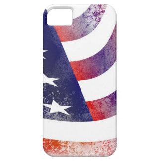 Capa Barely There Para iPhone 5 Bandeira americana do Grunge