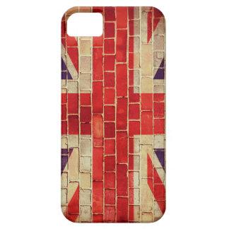 Capa Barely There Para iPhone 5 Bandeira BRITÂNICA do vintage em uma parede de