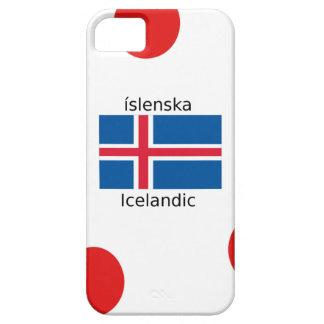 Capa Barely There Para iPhone 5 Bandeira de Islândia e design islandês da língua