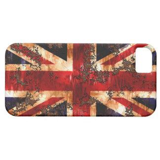 Capa Barely There Para iPhone 5 Bandeira patriótica oxidada de Reino Unido