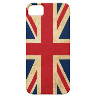 Capa Barely There Para iPhone 5 Bandeira Union Jack de Reino Unido do Grunge do