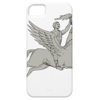 Capa Barely There Para iPhone 5 Bellerophon que monta Pegasus que guardara o