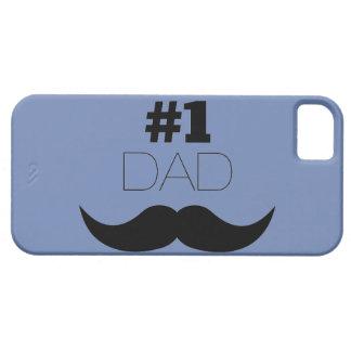 Capa Barely There Para iPhone 5 Bigode azul e preto do pai #1 - número um