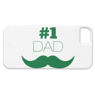 Capa Barely There Para iPhone 5 Bigode do verde do pai #1 - número um