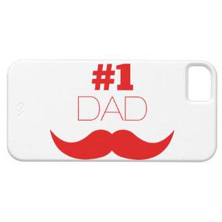 Capa Barely There Para iPhone 5 Bigode vermelho do pai #1 - número um