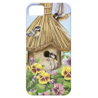 Capa Barely There Para iPhone 5 Birdhouse dos Chickadees