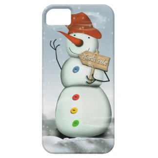 Capa Barely There Para iPhone 5 Boneco de neve encadernado do Pólo Norte