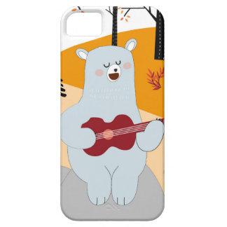 Capa Barely There Para iPhone 5 Bonito cante um lobo da raposa da canção do verão