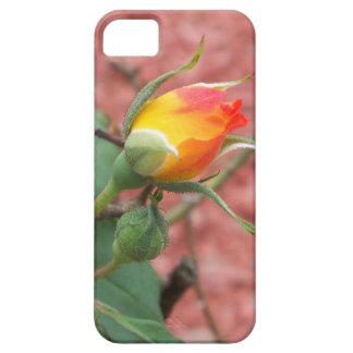 Capa Barely There Para iPhone 5 botão cor-de-rosa amarelo e da laranja