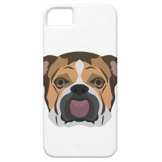 Capa Barely There Para iPhone 5 Buldogue do inglês da ilustração