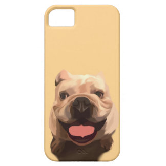 Capa Barely There Para iPhone 5 Buldogue feliz