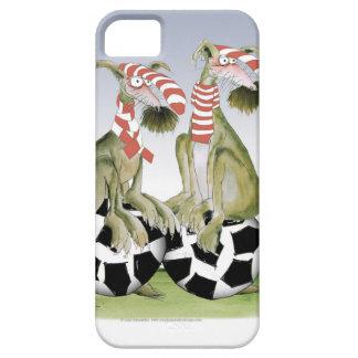 Capa Barely There Para iPhone 5 cães do futebol dos vermelhos quando sábado vier