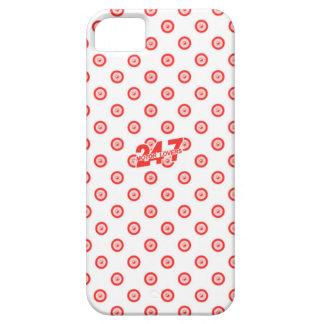 Capa Barely There Para iPhone 5 Caixa branca & vermelha