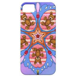Capa Barely There Para iPhone 5 Caleidoscópio dos ursos e das abelhas