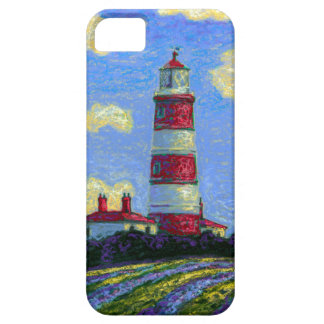 Capa Barely There Para iPhone 5 Campos Pastel do farol e da lavanda