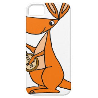 Capa Barely There Para iPhone 5 Canguru bonito que joga desenhos animados do banjo