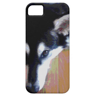 Capa Barely There Para iPhone 5 Cara bonito do Malamute do Alasca