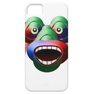 Capa Barely There Para iPhone 5 Cara engraçada futurista do caráter do monstro