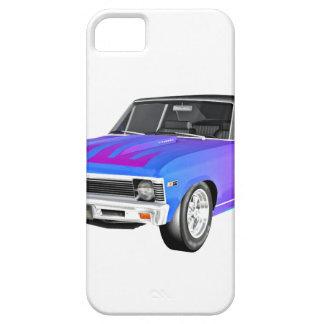 Capa Barely There Para iPhone 5 Carro do músculo de 1968 AM em roxo e em azul