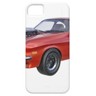 Capa Barely There Para iPhone 5 carro vermelho do músculo dos anos 70