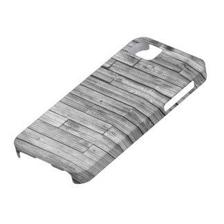 Capa Barely There Para iPhone 5 caso do iPhone 5/5S - madeira resistida do celeiro