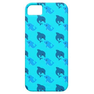 Capa Barely There Para iPhone 5 Caso do teste padrão do golfinho