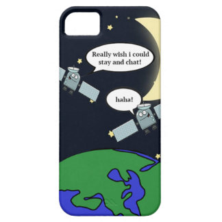 Capa Barely There Para iPhone 5 Caso satélite engraçado