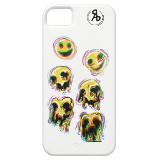 Capa Barely There Para iPhone 5 Caso Trippy do smiley
