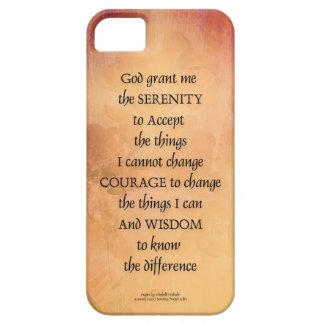 Capa Barely There Para iPhone 5 Cerca uma do marmelo da oração da serenidade