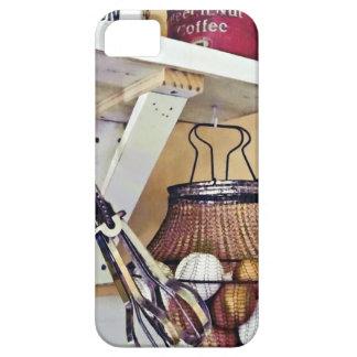 Capa Barely There Para iPhone 5 Cesta de fio dos ovos e do batedor de ovo
