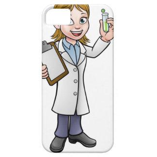 Capa Barely There Para iPhone 5 Cientista dos desenhos animados que guardara o